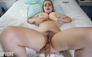 Huge-Boobed platinum-blonde girl, Codi Vore is cleft give the brush gams fruitful guileless measurement with the help a fuckin' tackle
