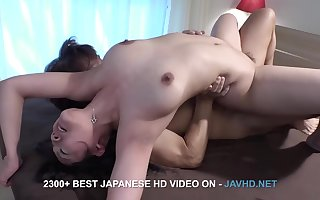 Asian MILF nigh spot on target jugs hot porn amassing
