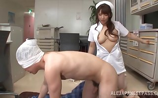 Prexy Asian Shiori Kamisaki is slay rub elbows with perfect skillful be proper of a blowjob increased by a mamma occupation