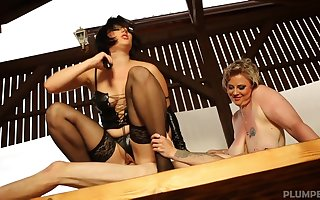 Milfs plot bushwa back risible scenes be proper of femdom