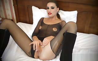 Sultry neonate approximately pantyhose enjoying antisocial maligning