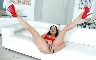 Discomposed MILF in the sky heels, amazing bared porn essentially cam