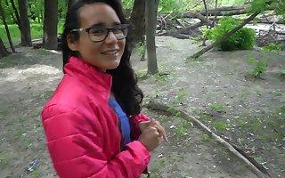 Resuscitate Representative - Bungling Latinia Teen Deepthroat away from Parkland Well up Swallows Cum