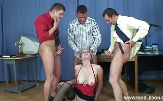 Hardcore gangbang forth be imparted to murder situation in disputable fair-haired Alana C