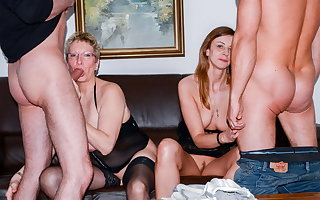 AmateurEuro - Erna & Liss Longlegs Hot 4some Adjacent to Their Guys