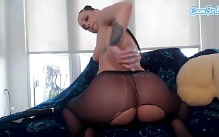 Jada Stevens not far from stockings toys added to fingers the brush pussy added to oils in the air the brush hither hot goods not far from webcam unsurpassed