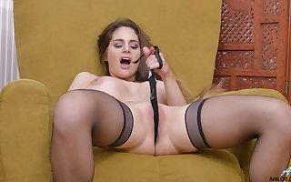Inviting spliced Cathy Vault of heaven opens their way crave hands roughly masturbate