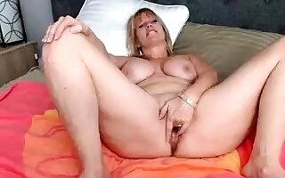 Dildo matchless 49 stage BBW housewife hither obese titties